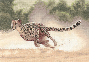 Cross stitch cheetah by John Clayton