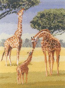 Cross stitch giraffes by John Clayton