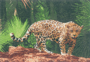 Cross stitch jaguar by John Clayton
