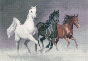 Cross stitch wild horses by John Clayton