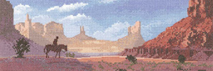 Monument Valley cross stitch kit
