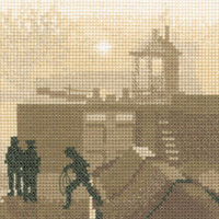 Silhouette cross stitch