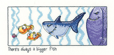 Alway a bigger fish cross stitch