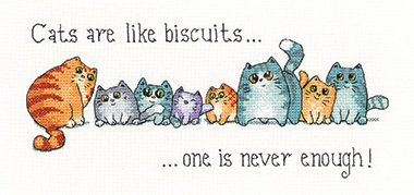 Cats and Biscuits cross stitch