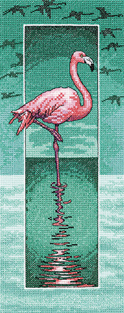 Flamingo cross stitch