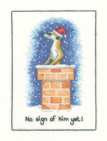A Christmas Meerkat counted cross stitch kit
