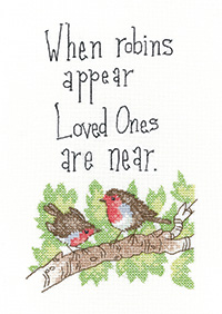 When Robins Appear cross stitch