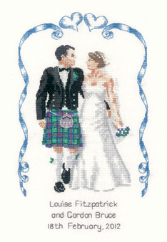 Scottish wedding cross stitch kit by Peter Underhill