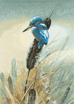 Cross stitch kingfisher
