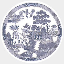 Willow Pattern cross stitch kit