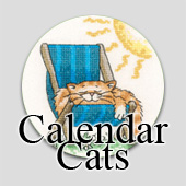 Counted cross stitch calendar cats by Peter Underhill
