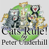 Cats Rule! Cross stitch designs by Peter Underhill