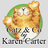 Cross stitch cats by Karen Carter