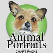 Animal Portraits cross stitch charts