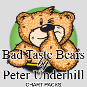 Bad Taste Bears cross stitch charts