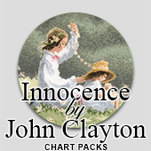 Innocence cross stitch by John Clayton