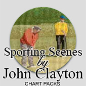Sporting scenes in cross stitch by John Clayton