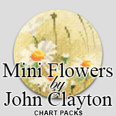 John Clayton Mini Flowers cross stitch charts