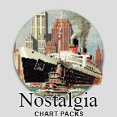Nostalgic cross stitch charts