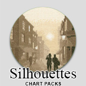 Silhouettes cross stitch charts