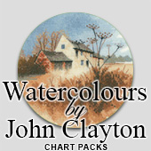 John Clayton Watercolours cross stitch charts