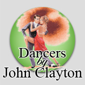 Cross stitch dancers by John Clayton