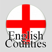 Counted cross stitch maps - English Counties