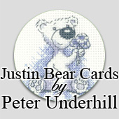 Justin Bear Cross Stitch Greeting Cards