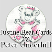 Justine Bear Cross Stitch Greeting Cards