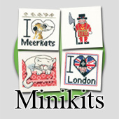Cross stitch MiniKits for beginners