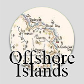 Counted cross stitch maps - Offshore Islands