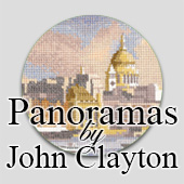 Panoramic cross stitch designs by John Clayton
