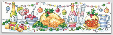 Christmas Dinner cross stitch by Karen Carter