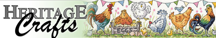 Heritage Crafts counted cross stitch designs