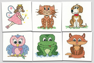 New cross stitch kits for children and beginners