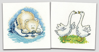 New cross stitch kits from John Clayton and Karen Carter