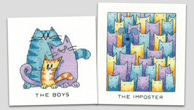 New cross stitch kits from Karen Carter
