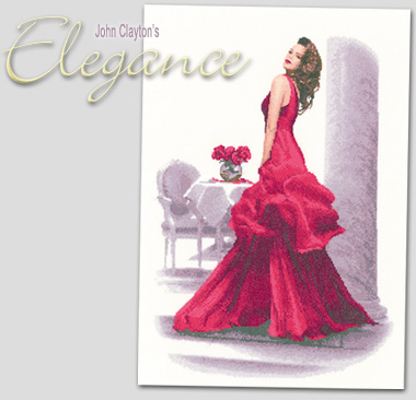 Susannah - John Clayton's latest Elegance lady in cross stitch